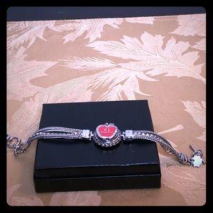 "Silver Snap On Bracelet with ""#1 Teacher"" Snap"